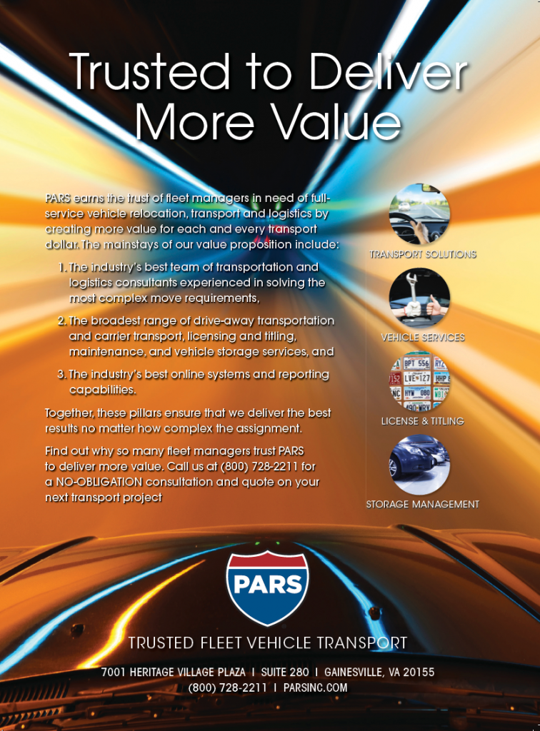 PARS is the most trusted fleet vehicle transport and logistics company in North America.